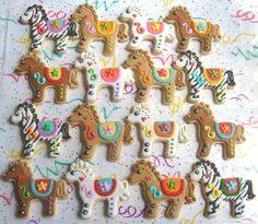 Carosel Horse Cookies  Horse Cookies  1 Dozen by lorisplace, $35.99