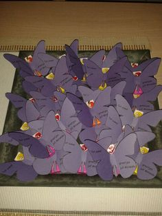 Traktatie vlinder met fruittella