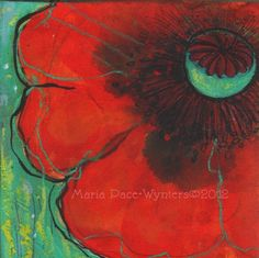 Poppy Stages, painting by artist Maria Pace-Wynters