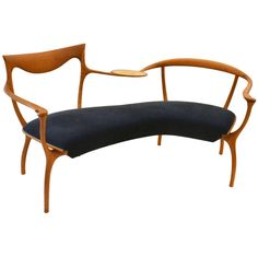 Sculptural Settee Manufactured by Ceccotti Collezioni, Italy | From a unique collection of antique and modern loveseats at http://www.1stdibs.com/furniture/seating/loveseats/