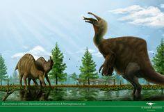 Vitor Silva - Deinocheirus, Saurolophus & Nemegtosurus