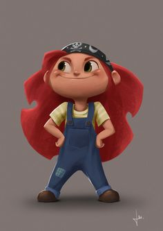 Girl character on Behance