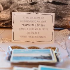 Alternatives To The Traditional Guest Book - love the postcards to be mailed throughout first year of marriage