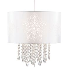 Bathroom Ceiling Lights Wilkinsons wilko 2 tier chandelier beaded ceiling light fitting £22 add some