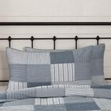 Farmhouse Blocked Quilts Sawyer Mill Blue Patchwork Shams Bed Skirts – Jam - Discount Home Decor Striped Bedding, Ticking Stripe, Discount Home Decor, Farmhouse Style Bedrooms, Bed Skirts, Blue Quilts, Country Chic, Vintage Looks, Quilt Blocks