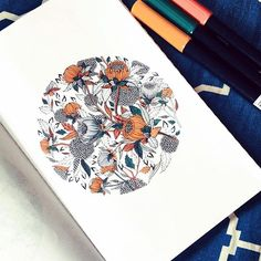 Colorful floral geometric illustration by Maggie Sichter Moon Illustration, Botanical Illustration, Floral Drawing, Shape Art, Floral Wall Art, Floral Illustrations, Botanical Art, Art Sketchbook, Pop Art