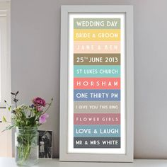 Are you interested in our Personalised Wedding Day Blind Print? With our bride & groom you need look no further. Personalised Prints, Personalized Wedding, Bride Groom, Poster Prints, Posters, Wedding Day, Flowers, Pi Day Wedding, Poster