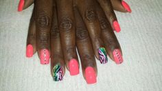 A little some thing different... freehand nail design
