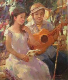 16 - Jun Martinez - Ligawan - Oil on Canvas - 20in x 24in.jpg (500×588)