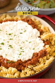 A yummy recipe for Lasagna Bowl that is easier to make and tastes just as good, if not better!