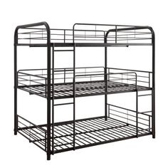 Shop a great selection of ACME Furniture Cairo Triple Bunk Bed, Full, Black. Find new offer and Similar products for ACME Furniture Cairo Triple Bunk Bed, Full, Black. Triple Bunk Beds, Full Bunk Beds, Bunk Beds With Stairs, Kids Bunk Beds, Cairo, Stair Plan, Metal Bunk Beds, Acme Furniture, Gothic Furniture