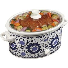 Hamilton Beach - Dana Gibson 6-Quart Slow Cooker - White - Angle