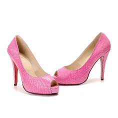 Pink high heels are so fun!
