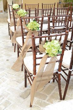 chiavari chairs, aqua bengaline slip covers, clear chargers with