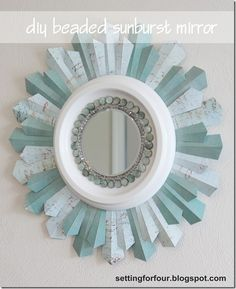 cute blue mirror