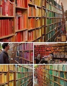 So many books and bookshelves.