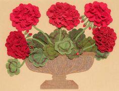 Applique flowers @ meetinghousehilldesigns.com