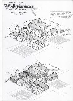 Observations of the Fox: Map Tutorial 15 (Part Isometric Mapping, mapmaking Isometric Map, Isometric Drawing, Map Sketch, Sketches, Fantasy Map Making, Animation 3d, Dungeon Maps, Fantasy City, Map Design