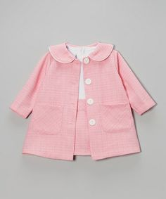 Pink Tweed Dress & Button-Up Jacket - Infant & Toddler by Gerson & Gerson #zulily #zulilyfinds