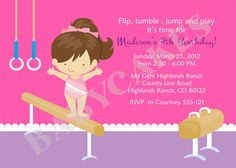 Free printable birthday party invitations gymnastics gymnastics gymnastics birthday invitation gymnastics invitation gymnastics birthday party gymnastics party invitation invite printable choose your girl stopboris Image collections