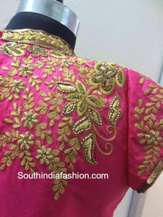 high_neck_maggam_work_blouse