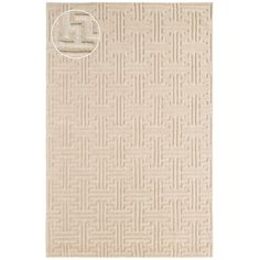 Delightfully plush and elegantly designed, this loom-knotted wool jacquard carpet is hooked, tufted, and sheared by hand, creating a piece that is as durable as it is decorative. A subtle beige hue and modern take on a traditional Greek key pattern make this carpet a perfect centerpiece for your favorite luxe spaces.FEATURES & BENEFITS: Plush, soft texture underfoot; durable construction.WHERE TO USE: The perfect addition for a master bedroom, dining room, or living room.Learn more.