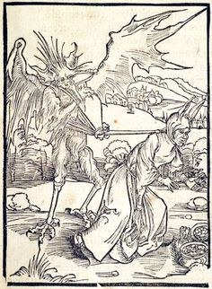 Of Finding Treasure. This woodcut is attributed to the artist Albrecht Dürer. It is an illustration from the book Stultifera navis (Ship of Fools) by Sebastian Brant, published by Johann Bergmann in Basel in 1498. Special Collections, University of Houston Libraries (Public Domain).