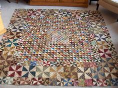 HST Quilt - 3 sizes - I have a pattern similar to this.  Can you imagine all of the work involved?
