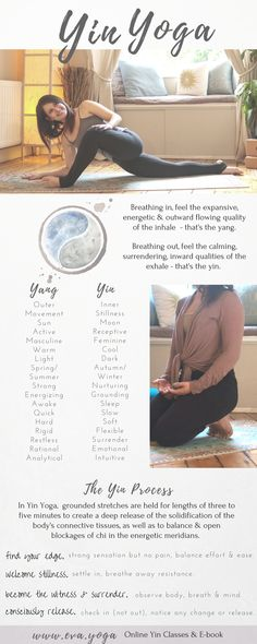 About Yin Yoga - www.eva.yoga Yin Yoga sequences & inspiration for teachers & students! Online classes & ebook available now: https://www.eva.yoga/writing-resources https://app.namastream.com/#/evayoga/product/1983/recordings