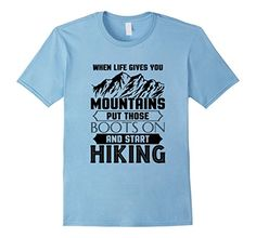 Men's Funny Hiking Lover Quotes Gift, Mountains Hiking T-Shirt XL Baby Blue >>> More info could be found at the image url.