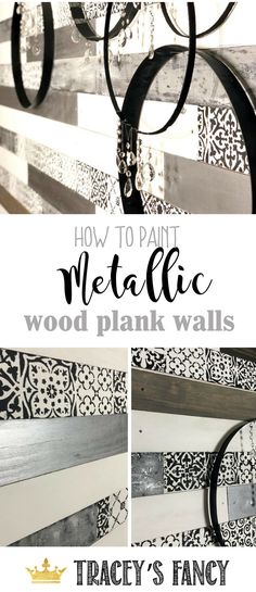 Imaginative Halloween Costumes - The Best Way To Be Artistic With A Budget How To Paint Metallic Wood Plank Walls By Tracey's Fancy Shiplap Walls Feature Walls Wood Walls Redesign Stair Stencils Metallic Walls Home Decorating Ideas Painted Wood Walls, Wood Plank Walls, Wood Planks, Wood Paneling, Wall Wood, Wood Stairs, Funky Home Decor, Handmade Home Decor, Porches