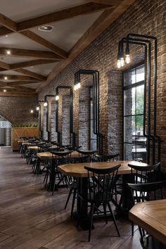 Buba cafe (Cherkassy, Ukraine) on Behance #InteriorDesignCafe
