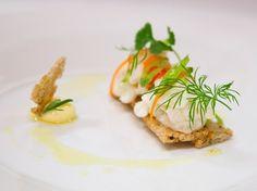 Råmarinert hvit fisk Types Of Food, Food Plating, Tapas, Breakfast, Morning Coffee, Food Presentation