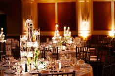 Floating candle centerpieces (Photo by Geoff White)