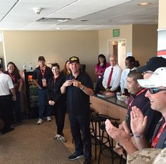 Clint Bowyer #15 visiting the Toyota suite at the #TSM350!