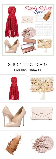 """""""Nudes"""" by quianeacza on Polyvore featuring moda, Warehouse, Charlotte Russe, Massimo Matteo, Urban Decay e GUESS"""