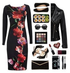 """""""dark floral ts 1/21"""" by countrycousin ❤ liked on Polyvore featuring Dorothy Perkins, ZeroUV, Retrò, NYX, Lancôme, MAC Cosmetics and tinkertotbest"""