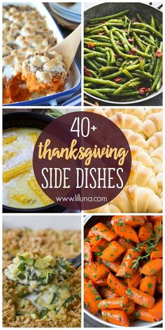 40+ Thanksgiving Side Dishes - a roundup of veggies, potatoes, and rolls that make the most perfect Thanksgiving side dishes!