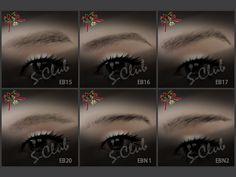 Sims3set S-Club ts3 eyebrow x6 set2
