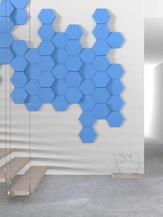 Hexagon wall panel by Kalithea