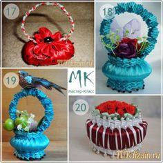 How to make DIY ribbon wrapped soap flower basket | DIY Tag