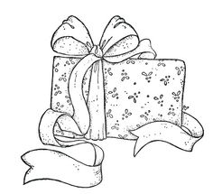 Present with bow Christmas Coloring Pages, Coloring Book Pages, Christmas Drawing, Christmas Embroidery, Tampons, Copics, Digital Stamps, Christmas Colors, Colorful Pictures
