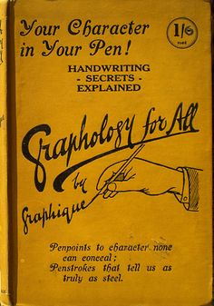 Books for Life: Graphology for All. A classic Book Cover. That's what I like and want for MY BOOK!