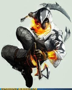 Connor Kenway Ghost Rider mood again more à la First Civilization. If the Ghost Rider was a piece of Eden, what would it be ? Dark Fantasy Art, Fantasy Artwork, Ghost Rider, Fantasy Character Design, Character Art, Ghost Assassin, Anime Zone, Connor Kenway, Spirit Of Vengeance
