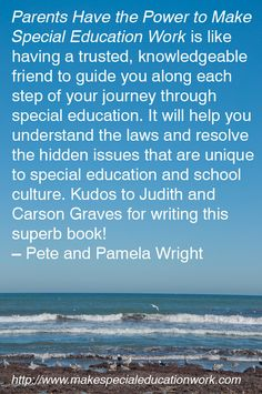 Book Review Parents Have Power To Make >> 22 Best Special Education Quotes Images In 2019 Special Education