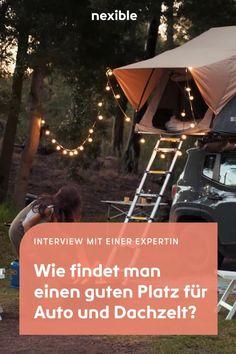 Ruhe ist ein riesiger Faktor. Oft unterschätzt man Flüsse oder Bäche, die recht laut sind. Weitere Tipps der Expertin erfährst du in unserem Interview. #camping #stellplatz #dachzelt #zelten #übernachten #urlaub Julia Fischer, Cool Paper Crafts, Sprinter Camper, Diy Camper, Beautiful Places To Travel, Campervan, Camping Hacks, Van Life, Outdoor Gear