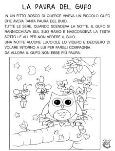 Ascolto gufo cl1 testo Social Service Jobs, Social Services, Italian Lessons, Italian Language, Learning Italian, Friends Tv, Teaching Materials, Book Activities, Kids Learning