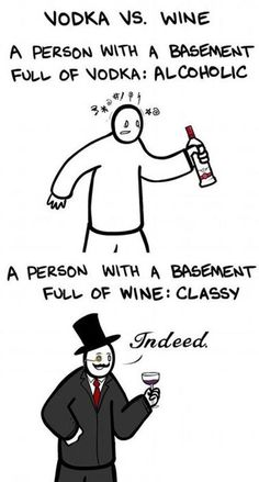 Funny Funny Pictures - Vodka vs. Wine - Funny Pictures, MEME, LOL