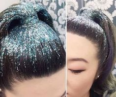 A pony tail is always a winner - but a glitter one <3