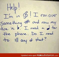If you can read this, thank your music teacher!!! Love this!